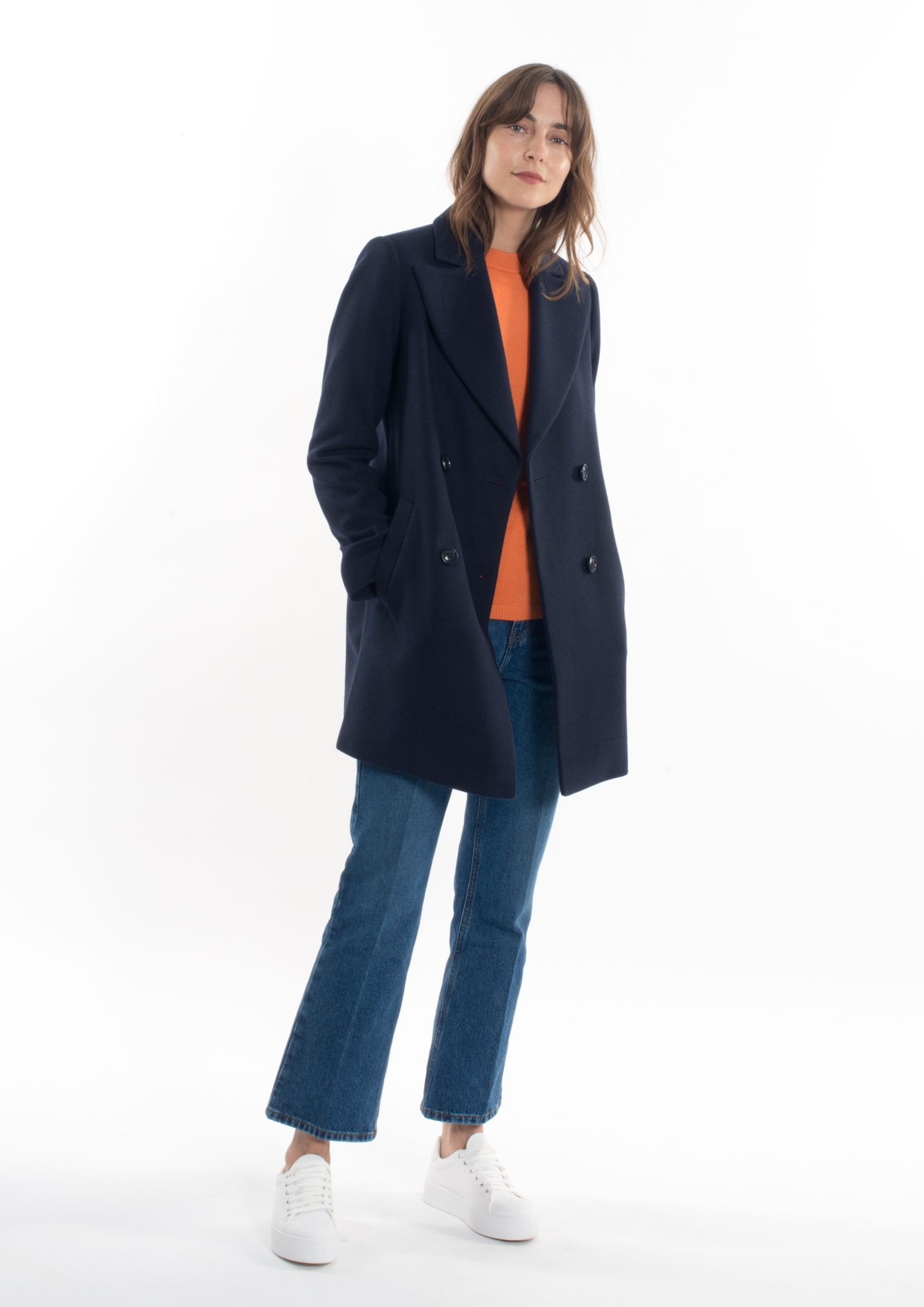 huge selection of great look first rate Gianni Feraud Ladies Navy Oversized Peacoat